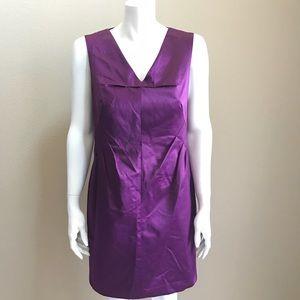 Robert Rodriguez purple satin sleeveless dress 6